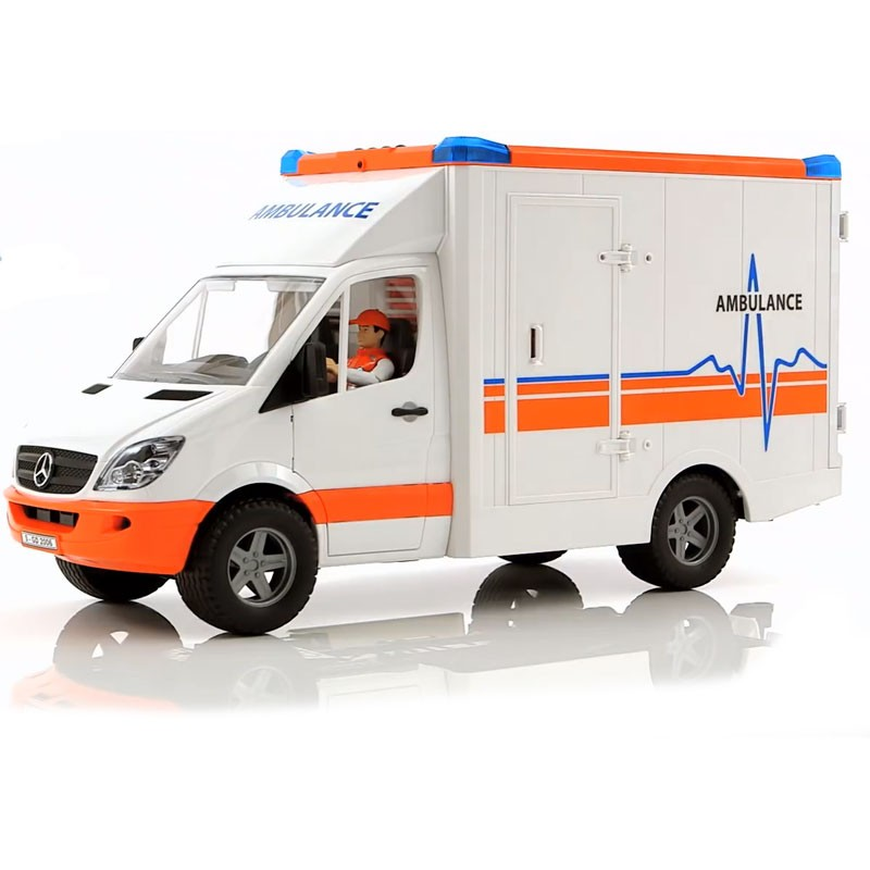 BRUDER -  AMBULANCIA MB SPRINTER CON CHOFER 02536