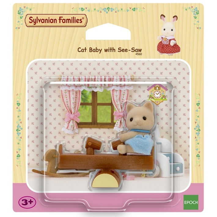 SYLVANIAN FAMILIES - CAT BABY WITH SEE SAW