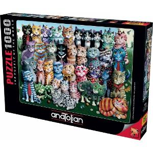 ANATOLIAN - PUZZLE 1000 PIEZAS CAT FAMILY REUNION