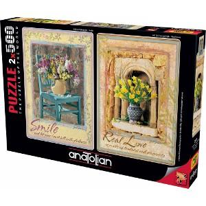 ANATOLIAN - PUZZLE 2X500 PIEZAS SMILE - REAL LOVE