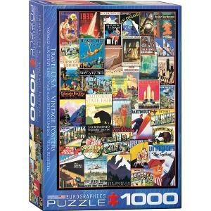EUROGRAPHICS - PUZZLE 1000 PZAS TRAVEL USA VINTAGE POST