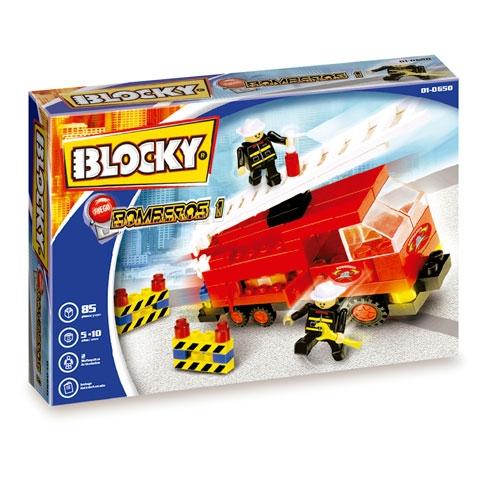 BLOCKY - BOMBEROS 1  85 PIEZAS