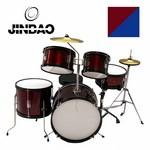 JINBAO - BATERIA MUSICAL JUNIOR 5 PCS ROJA