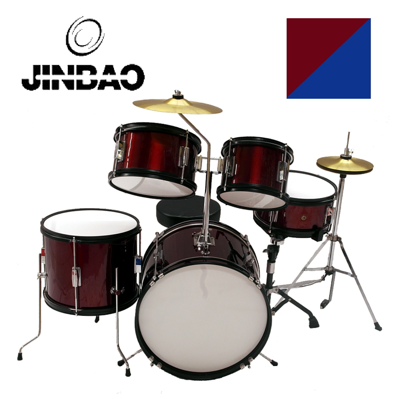 JINBAO - BATERIA MUSICAL JUNIOR 5 PCS ROJA