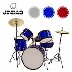 JINBAO - BATERIA MUSICAL GRANDE 5 PCS GRIS