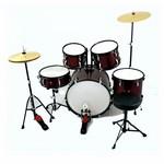 JINBAO - BATERIA MUSICAL GRANDE 5 PCS ROJA
